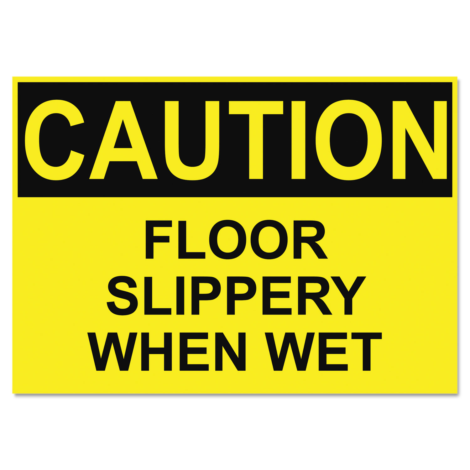 Osha Safety Signs Caution Slippery When Wet Yellow Black