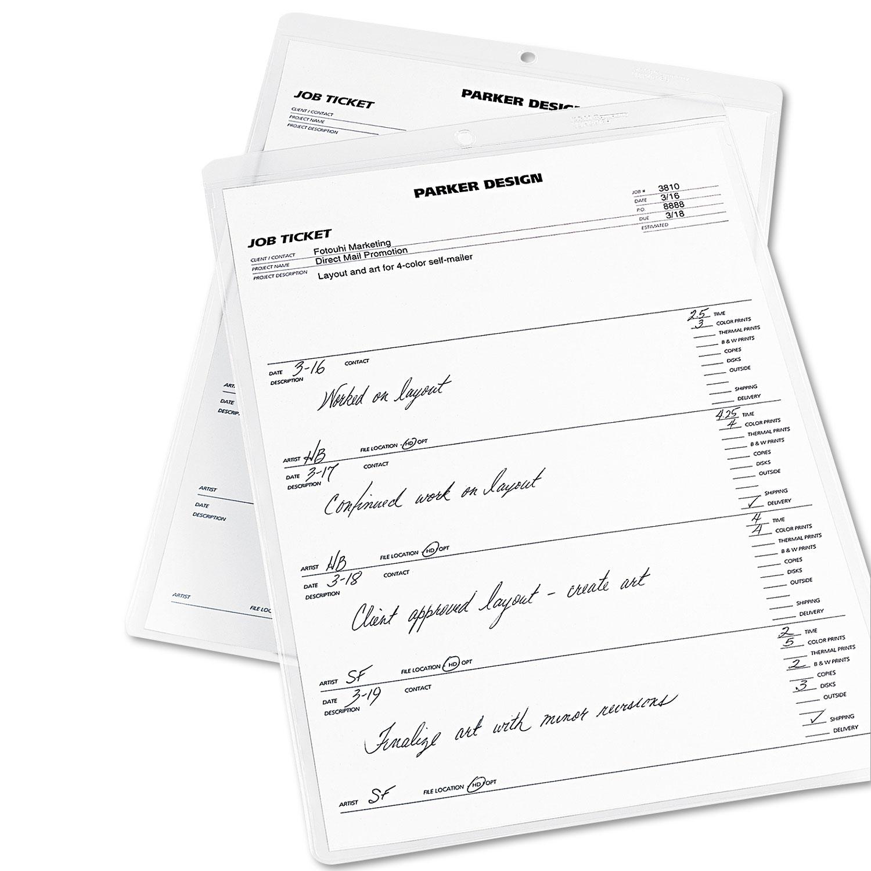 Job Ticket Holders Heavy Gauge Vinyl 9 X 12 Clear 10