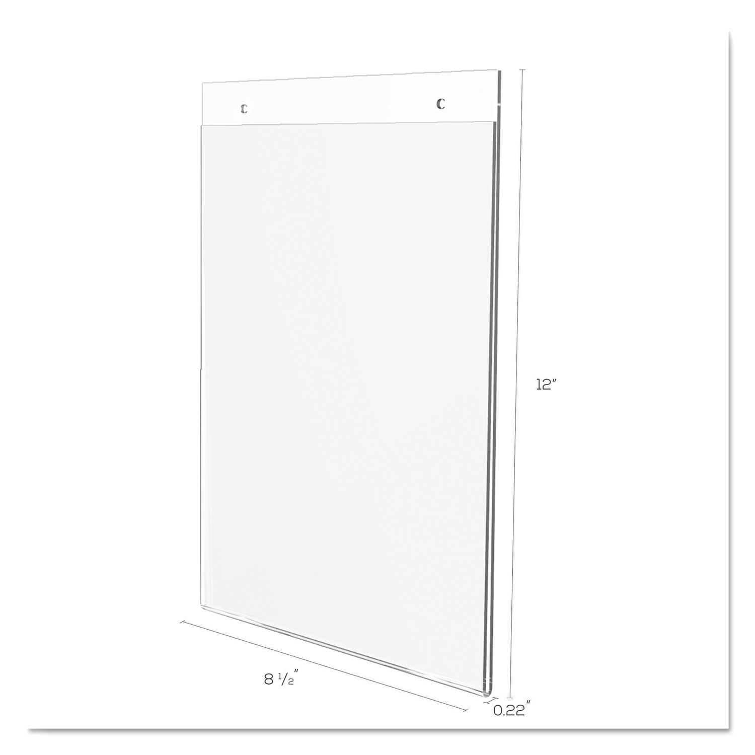 Classic Image Wall Mount Sign Holder Portrait 8 1 2 X 11