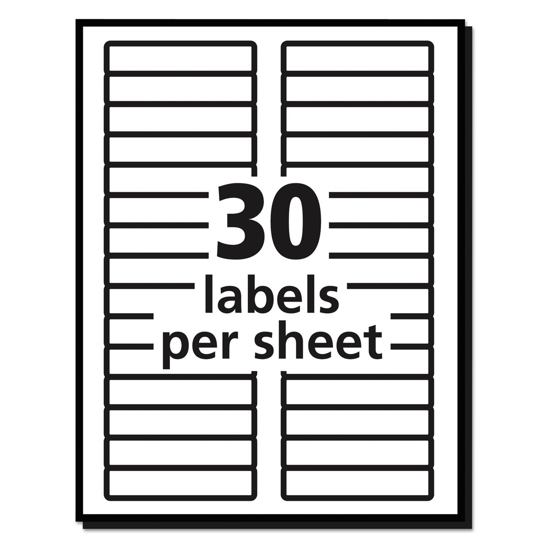 30 labels per sheet template] - 100 images - label snacks meals ...