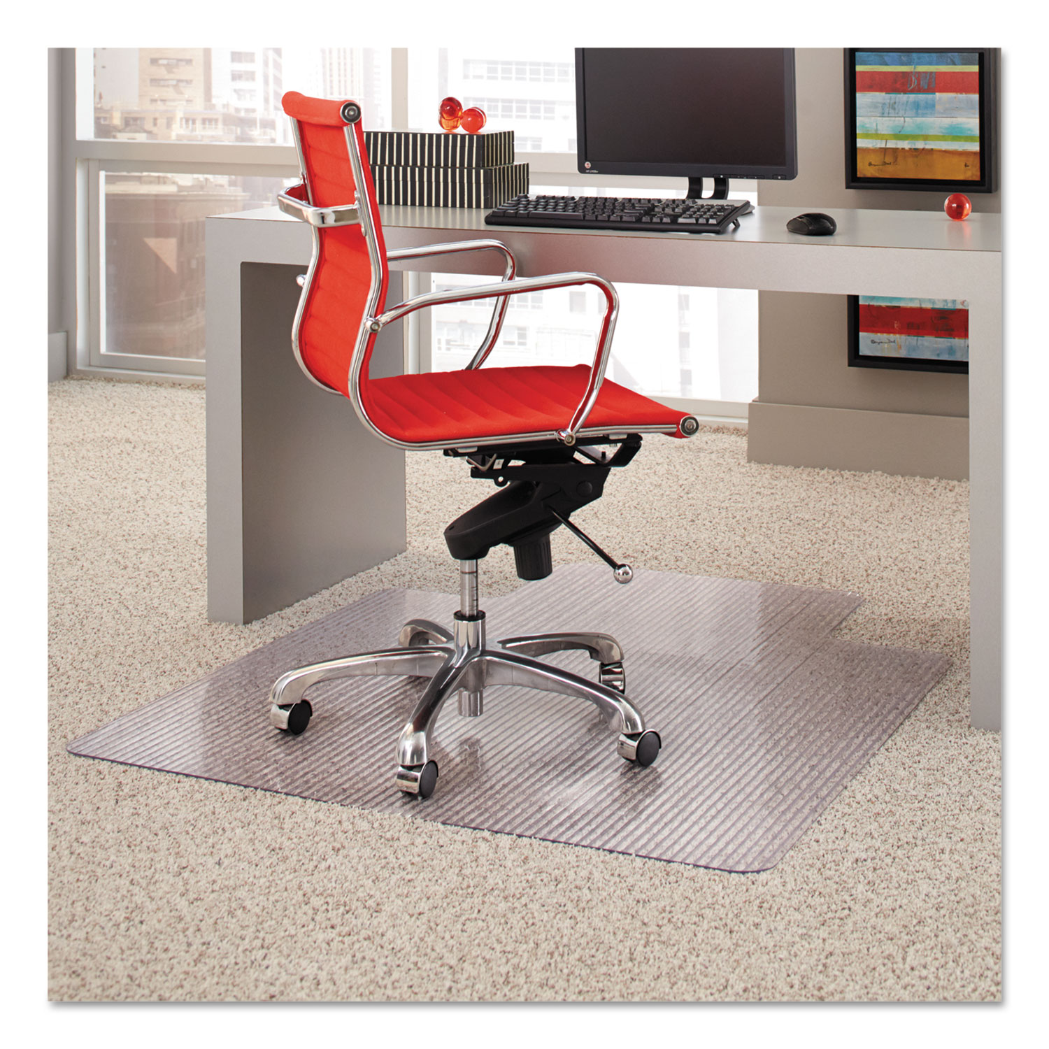 Dimensions Chair Mat For Carpet 45 X 53 With Lip Clear