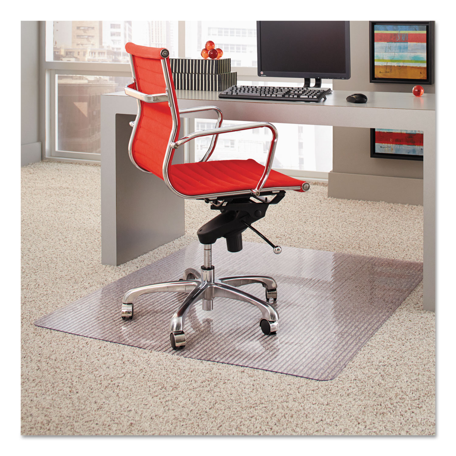 Dimensions Chair Mat For Carpet 45 X 53 Clear