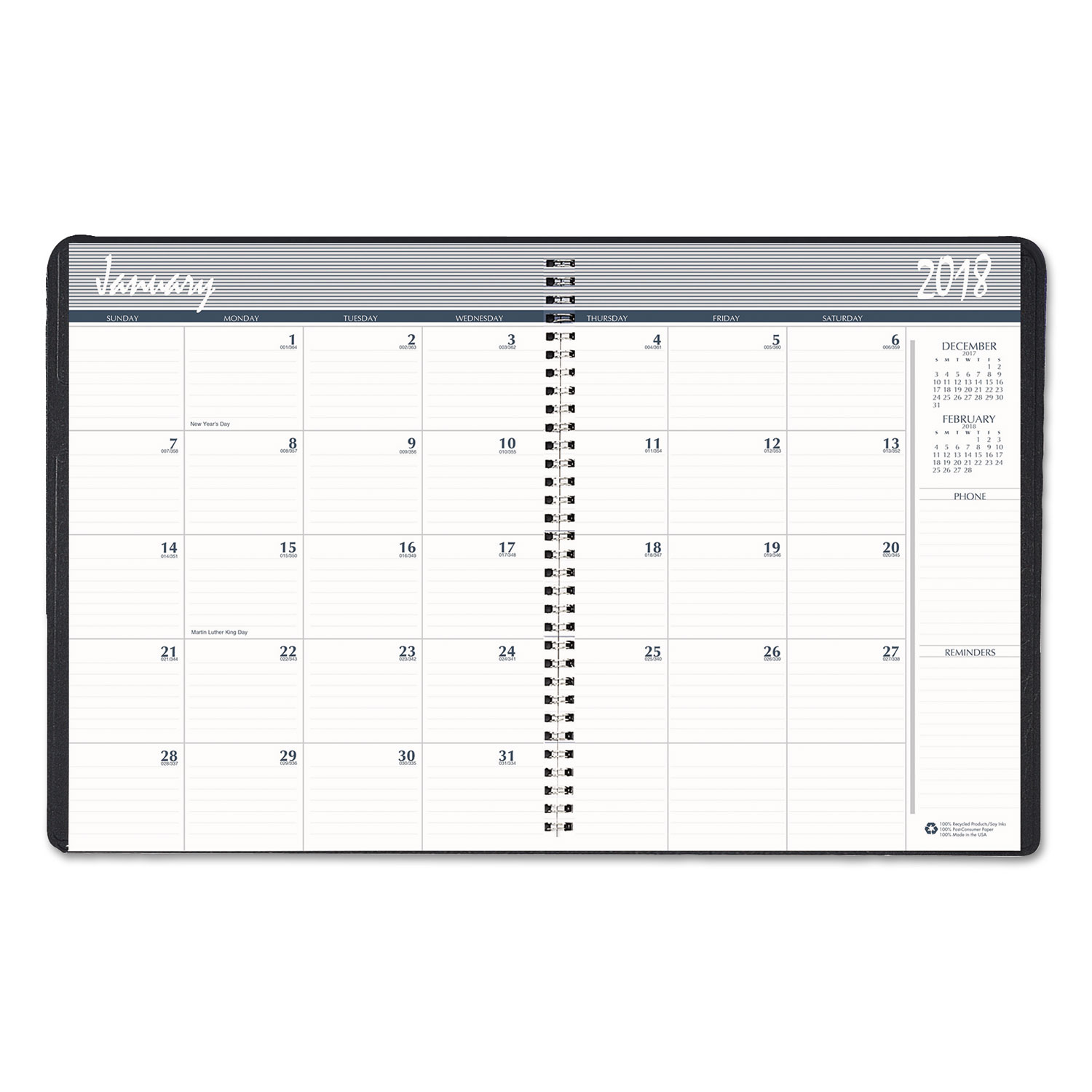 Recycled Ruled Monthly Planner By House Of Doolittle