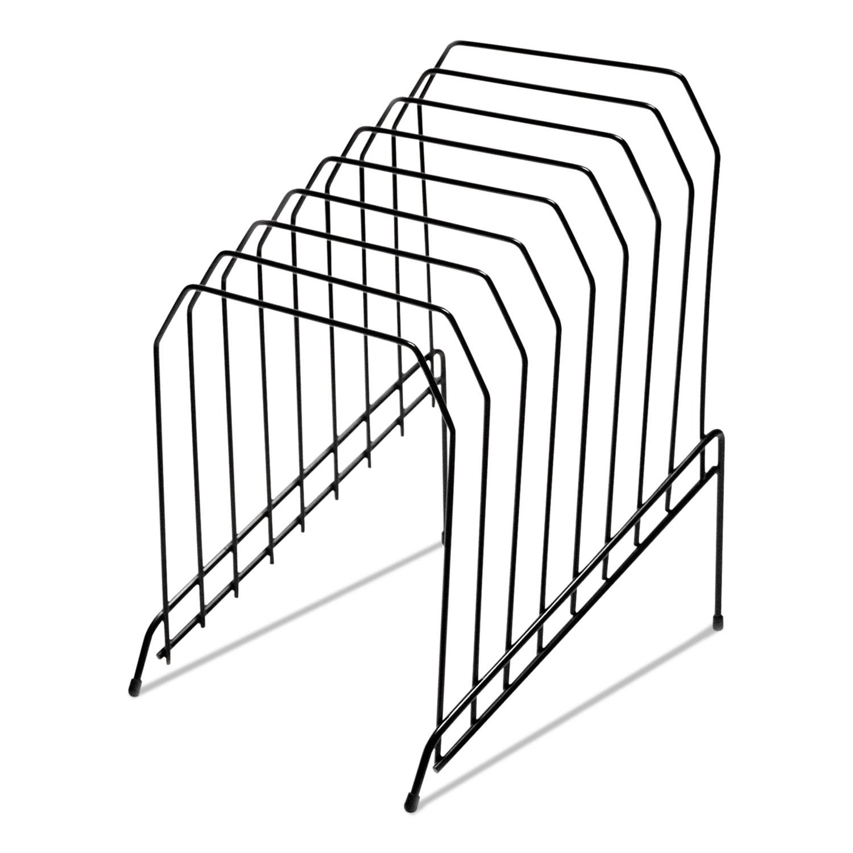 Wire Tiered File Sorter 8 X 10 1 2 X 12 1 2 Black