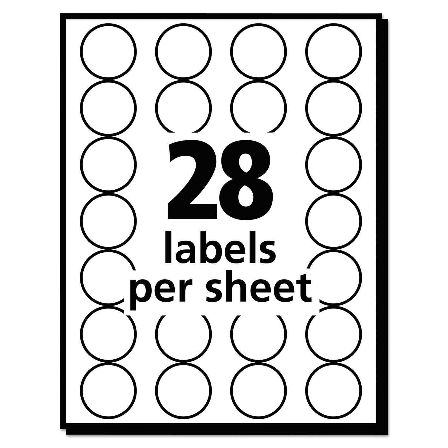 Handwrite Only Removable Round Color Coding Labels 3 4