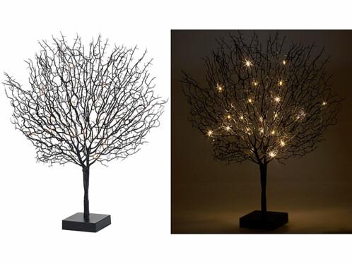 arbre decoratif design 50 cm a led coloris noir