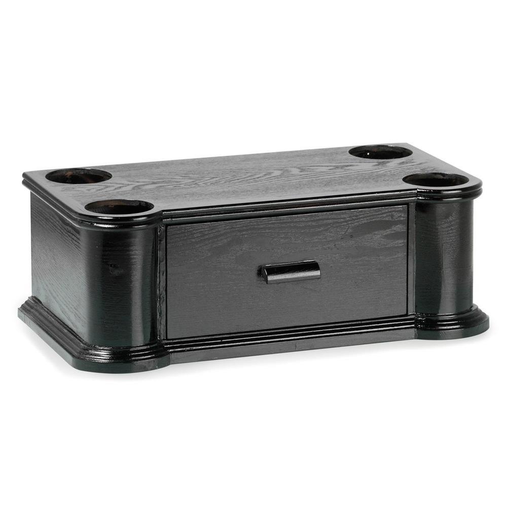 support en bois avec tiroir range cd