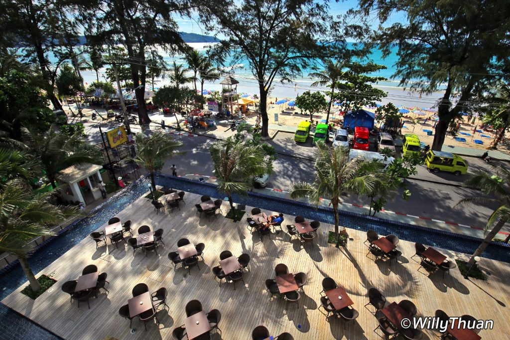View from the Belgian Beer Cafe rooftop at Phuket Graceland Resort
