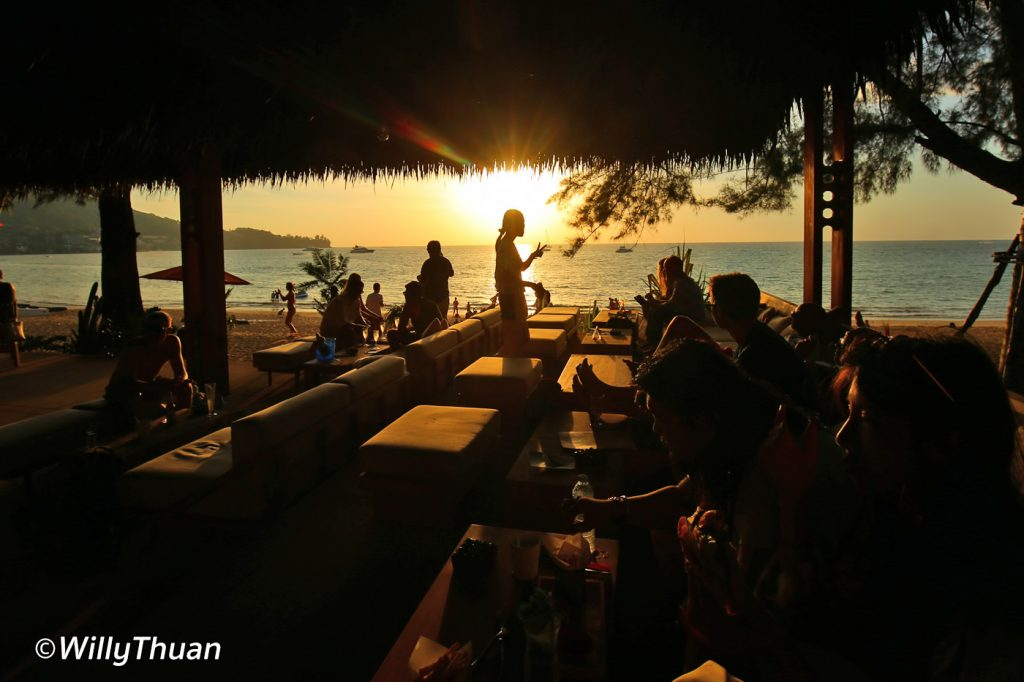 Cafe Del Mar Beach Club in Kamala Beach, Phuket