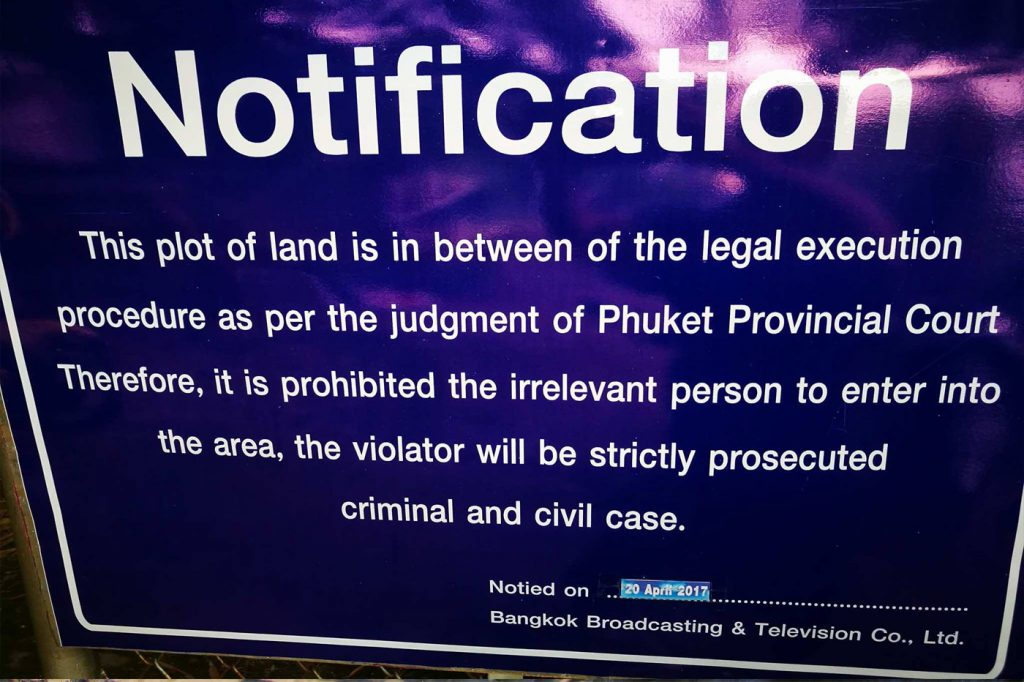 Laem Singh beach closed to public