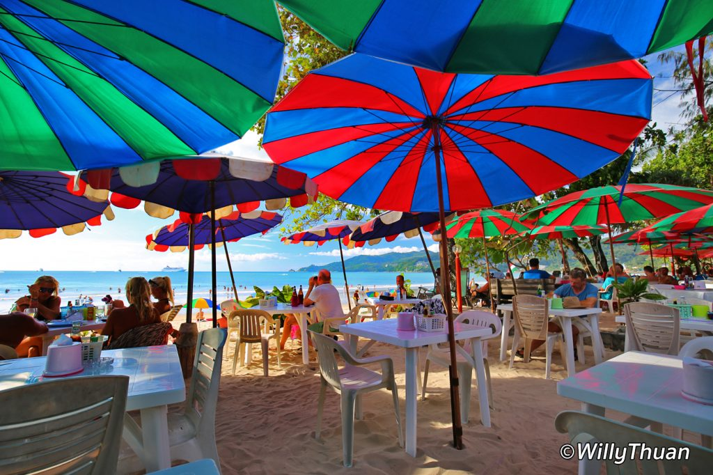 Eating on the beach of Patong