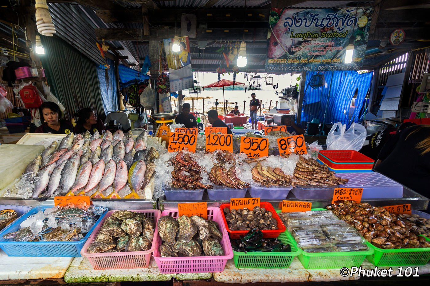 Rawai beach what to do in rawai beach phuket 101 for Seafood fish market