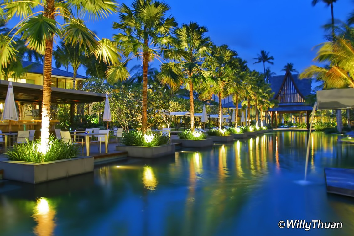 Twin Palms Phuket Resort Swimming Pool at Night