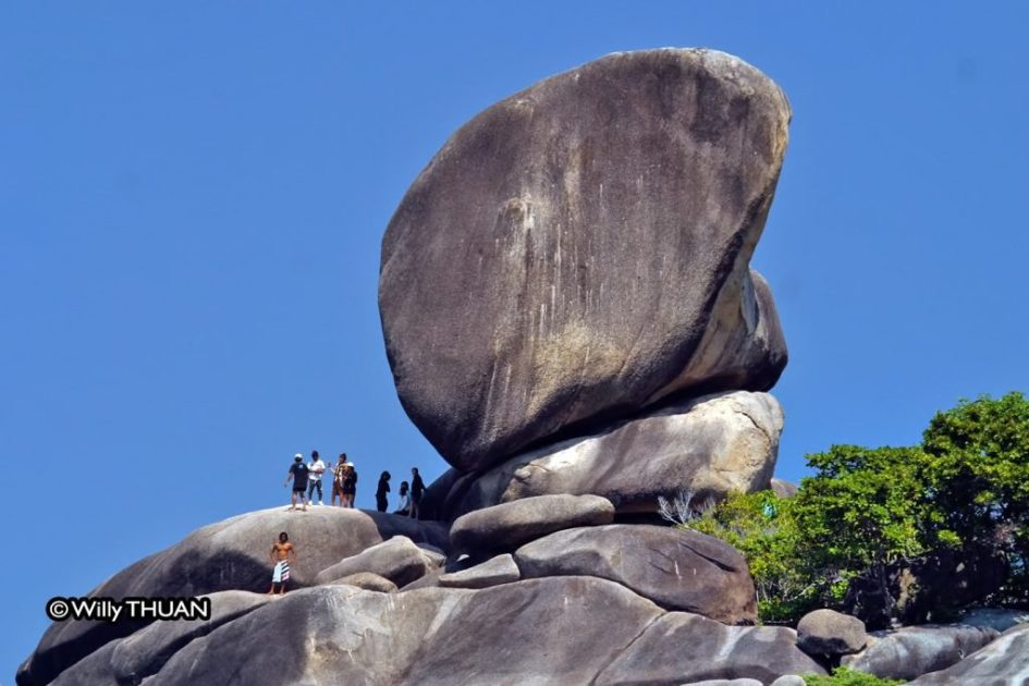 The famous Similan Island rock formation