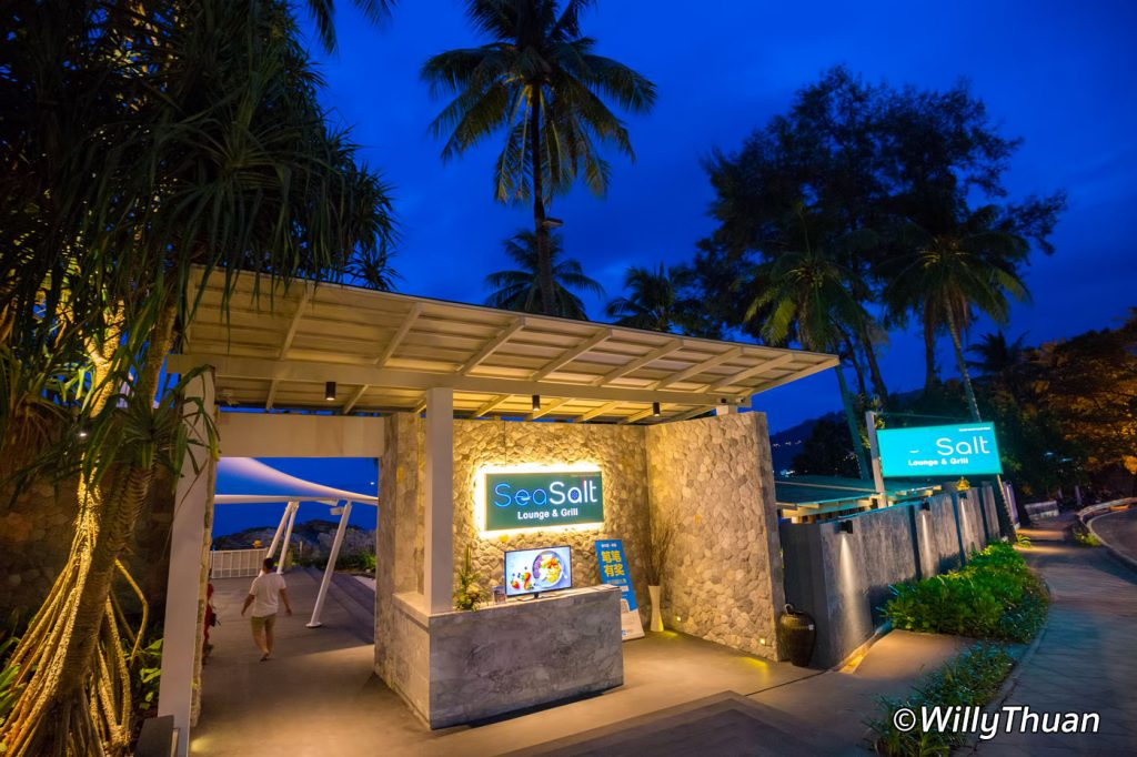 The entrance at SeaSalt Lounge and Grill Patong Beach