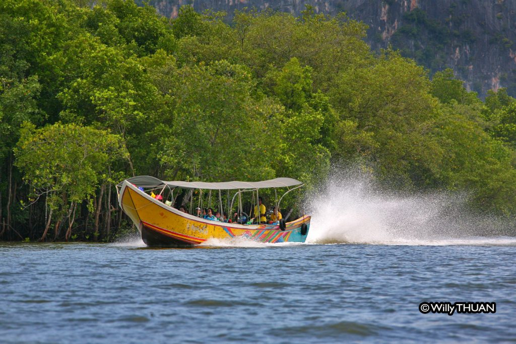 Going to Koh Panyi by longtail boat