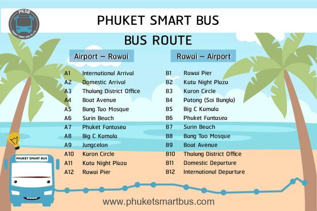 Phuket Smart Bus Itinerary