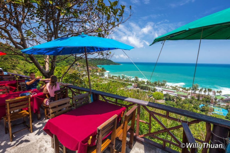 Lunch with a view above Kata Noi beach
