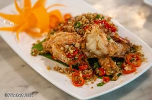 Goong Pad Prik Klua กุ้งผัดพริกเกลือ