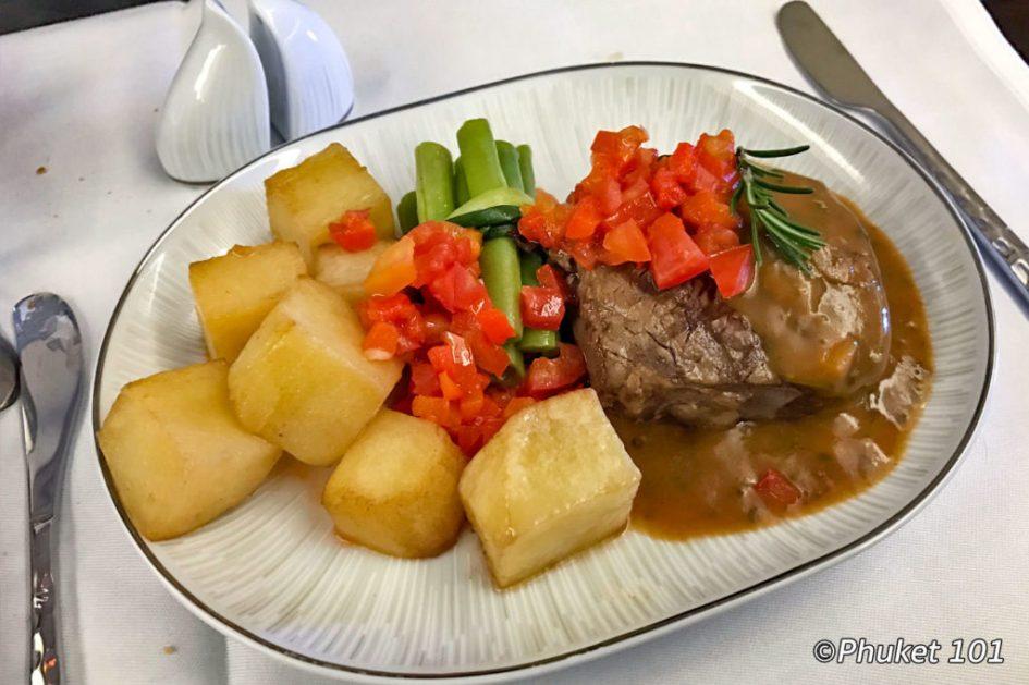 Thai Airways Business Class Meals
