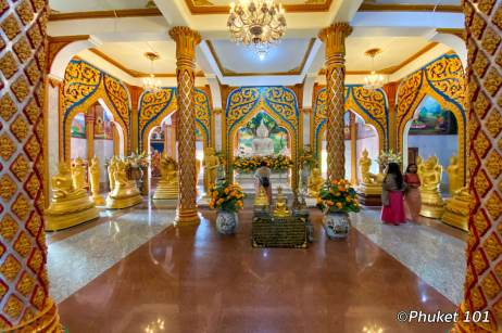 Inside Chalong temple main building