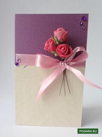 Открытка с розами с днем рождения своими руками, днем рождения женщине