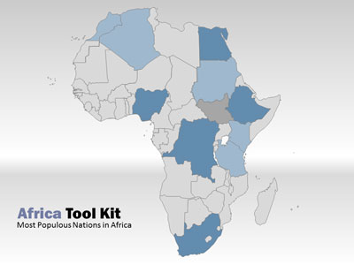 Africa Map Tool Kit   A PowerPoint Template from PresenterMedia com