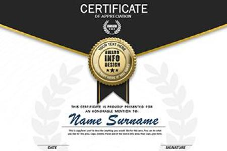 Loaded Certificate   A PowerPoint Template from PresenterMedia com PowerPoint Template  Loading Preview close