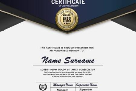 Loaded Certificate   A PowerPoint Template from PresenterMedia com