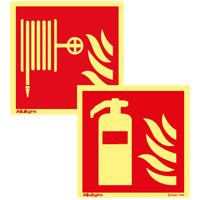 Brandredskapsskyltar