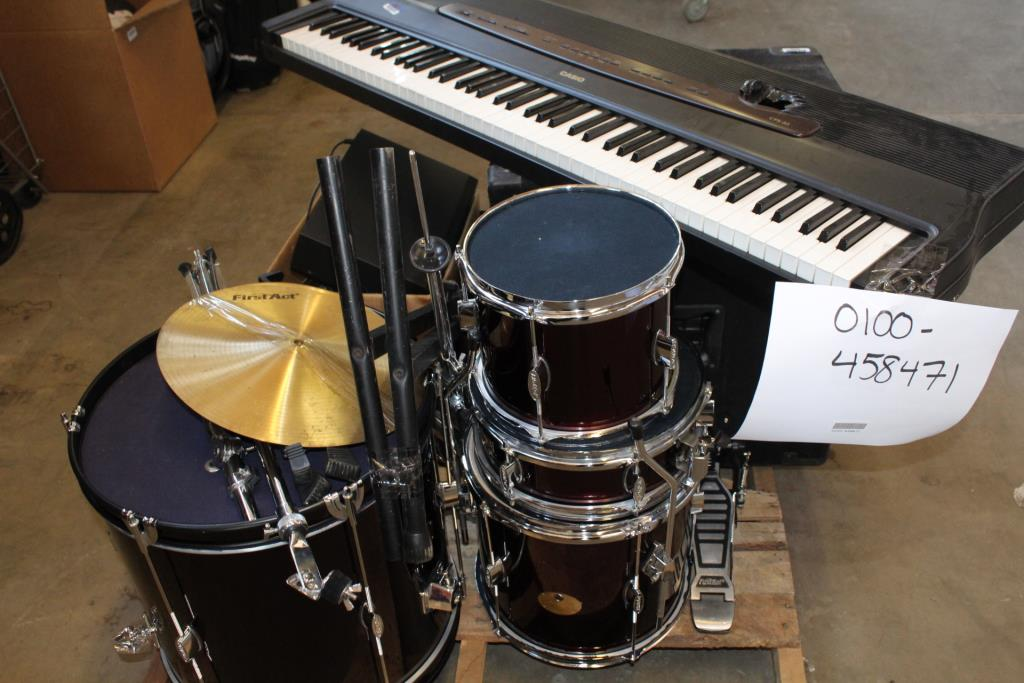 Casio Digital Piano  First Act Drum Set  And More  5  Pieces     Casio Digital Piano  First Act Drum Set  And More  5  Pieces