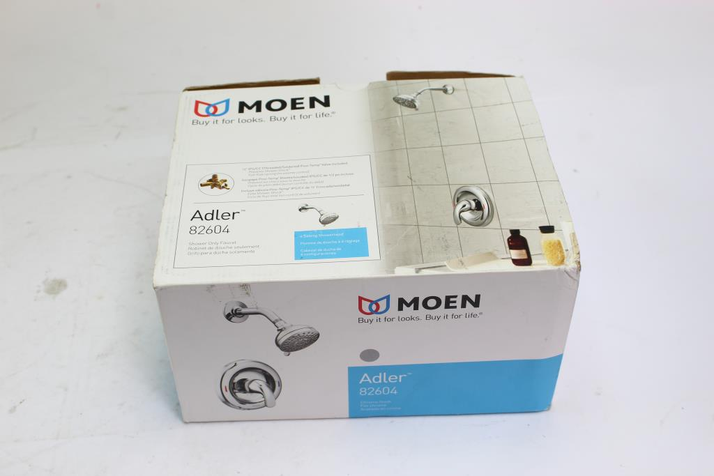moen adler chrome finish shower faucet