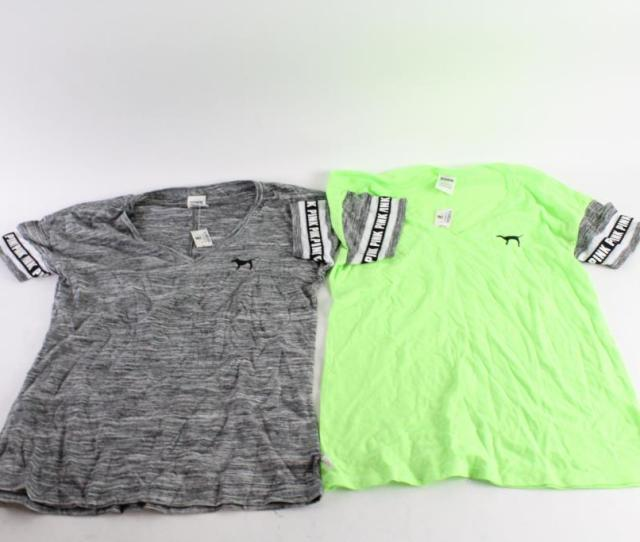 Pink Victoria Secrets Shirts And More Assorted Sizes 3 Pieces