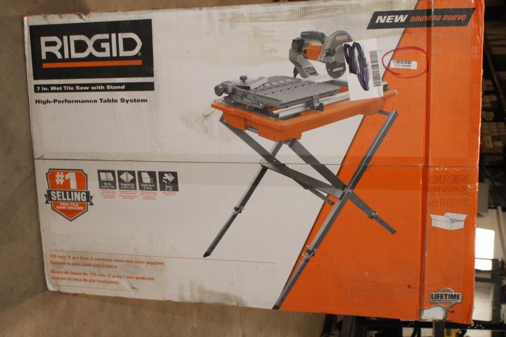ridgid 7 wet tile saw with stand