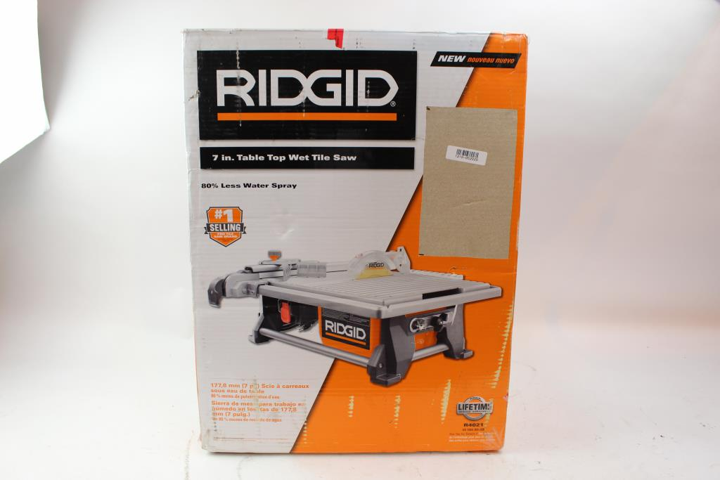 ridgid r4021 7 inch table top wet tile