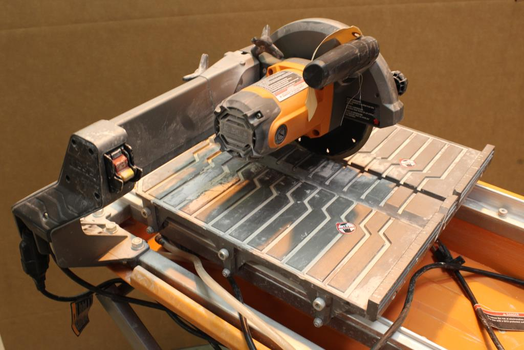 ridgid r4030 7 wet tile saw with stand