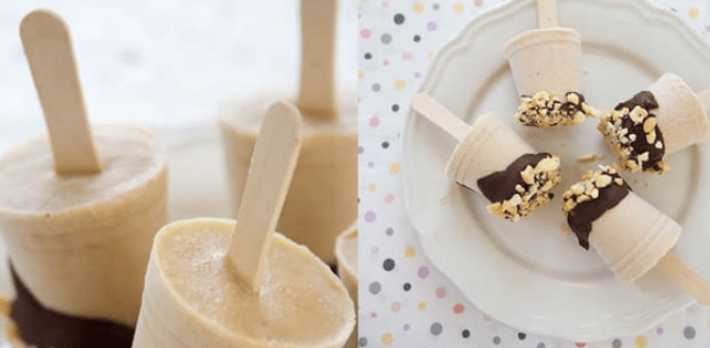 Frozen Chocolate Peanut Butter Banana Greek Yogurt Pops