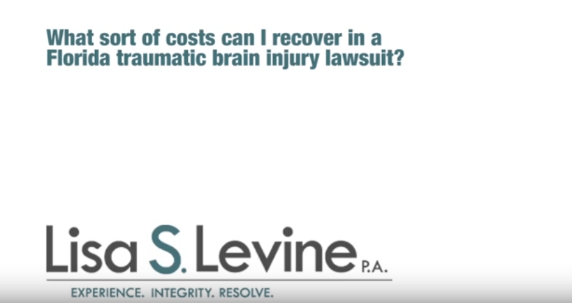 What sort of costs can I recover in a Florida traumatic brain injury lawsuit?
