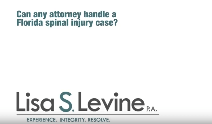 Can any attorney handle a Florida spinal injury case?