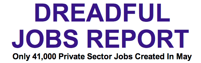 Dreadful Jobs Report Headline
