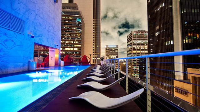 The roof of The Standard, L.A