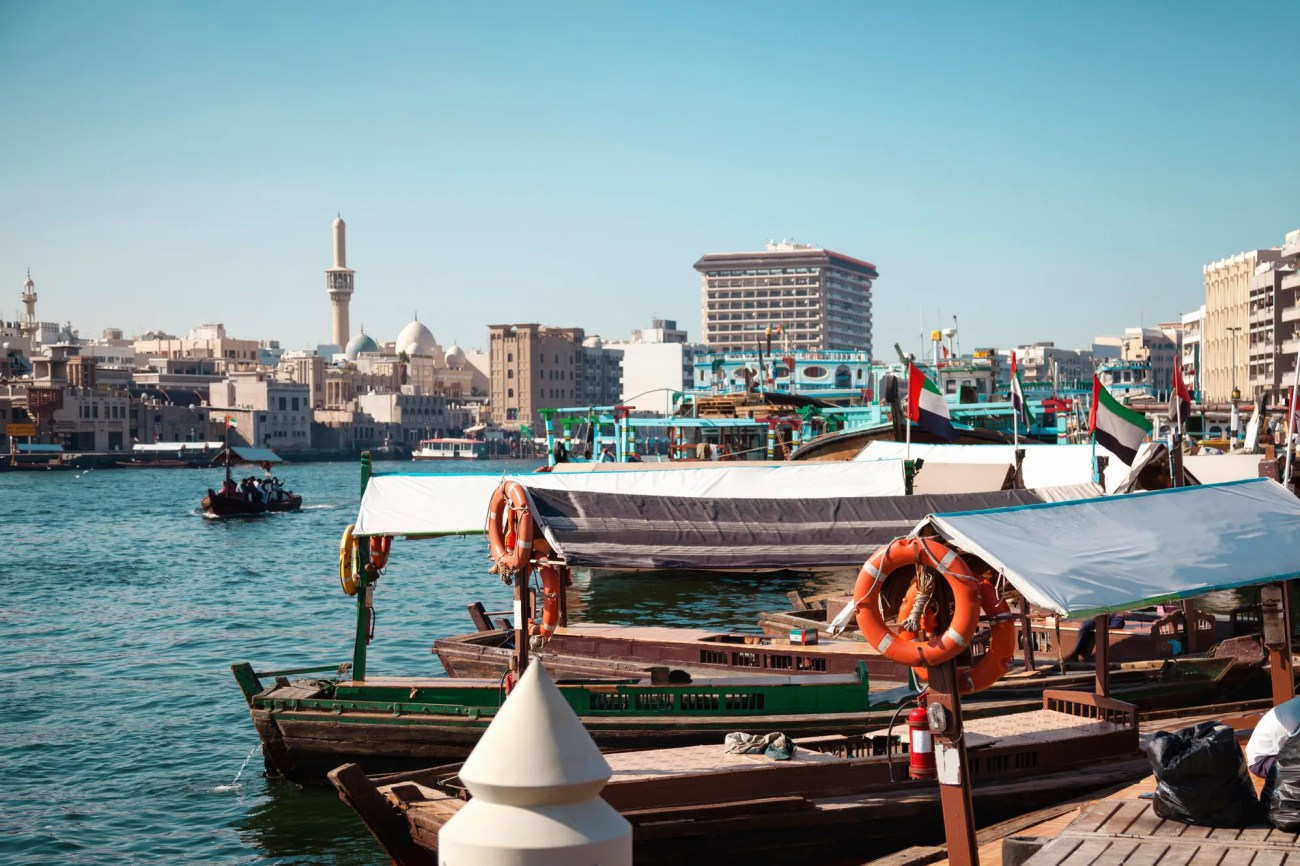 Traditional boats on Dubai Creek
