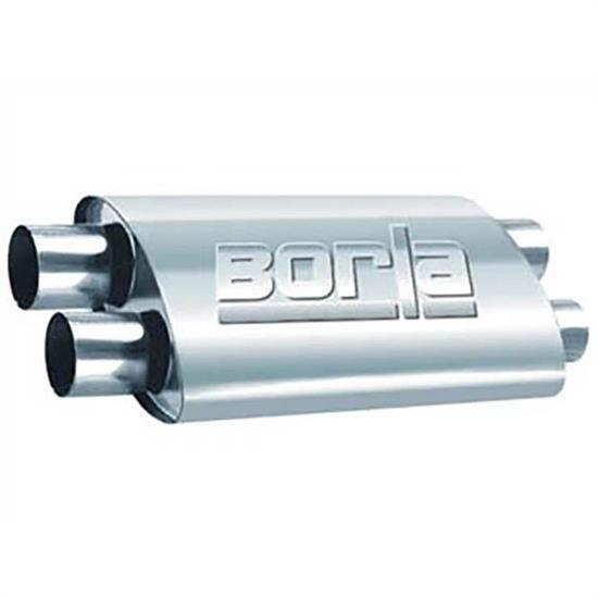 borla 400286 proxs muffler 2 5 dual inlet outlet