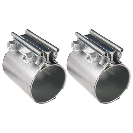 hooker 41172hkr stainless steel torca style exhaust coupler 2 1 2 in