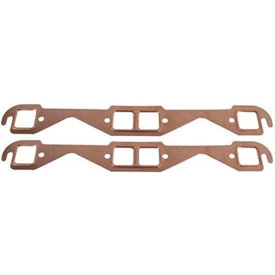 small block chevy copper exhaust gaskets square port