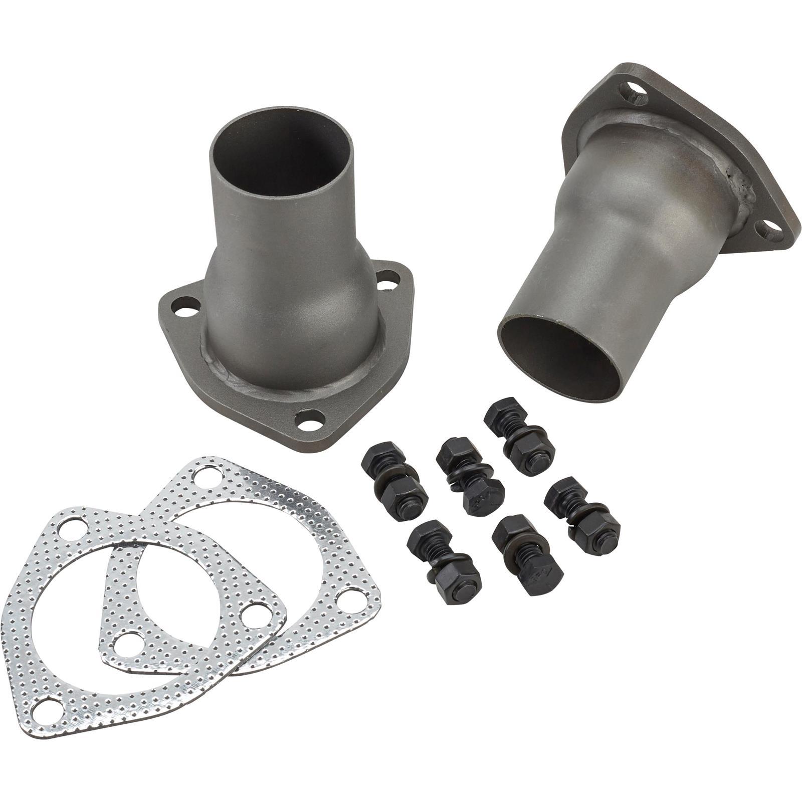 speedway 3 bolt header collector reducer kit 2 1 2 to 2 inch