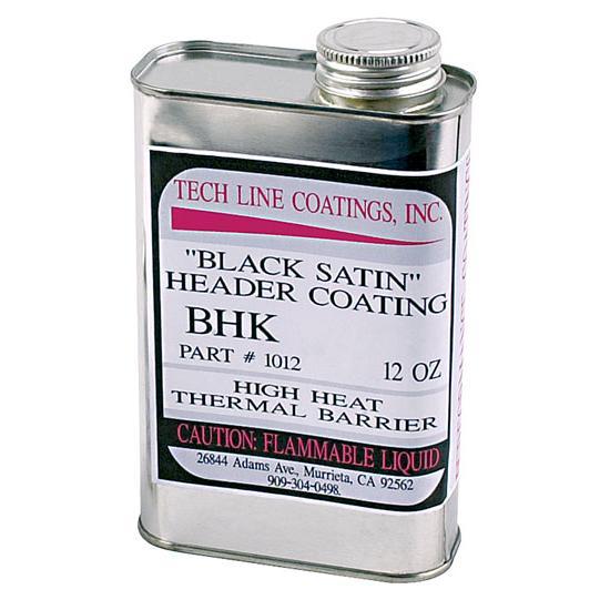 tech line coatings black satin ceramic header coating 12 oz