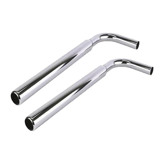 details about 30 inch chrome bellflower exhaust tip 2 1 2 pipe 1 7 8 o d inlet