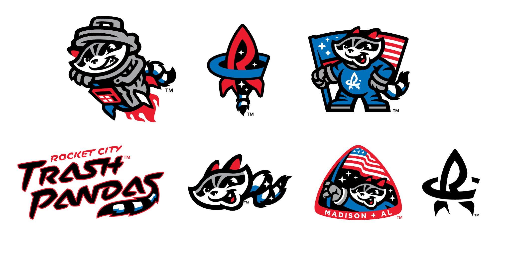 Rocket City Trash Pandas Unveil Logos Sportslogos Net News