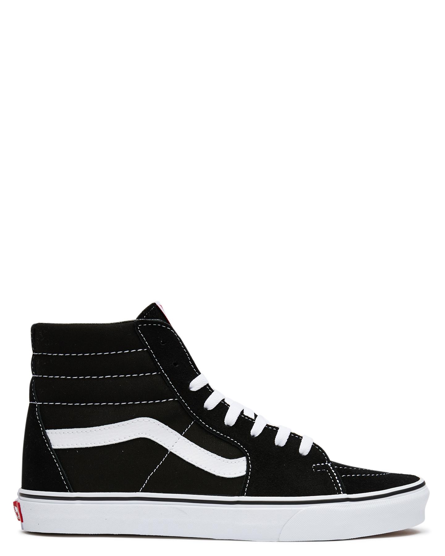 Vans Womens Sk8 Hi Shoe Black Womens Sneakers Size 5.5  906da40ac4